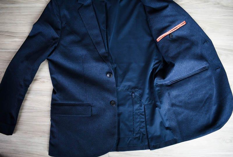 bluffworks secret pocket in gramercy blazer