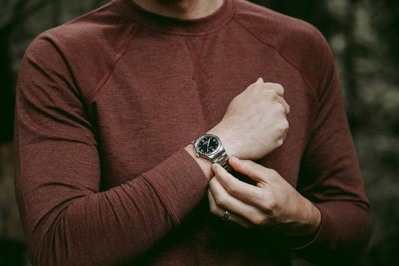 Vaer c3 field watch with steel link bracelet fit