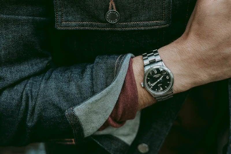 Vaer c3 watch with denim