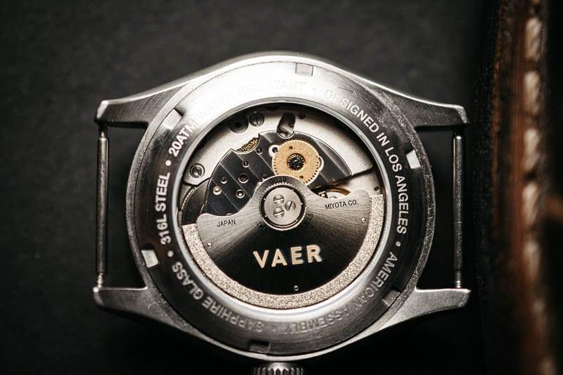 Vaer d5 sapphire display caseback