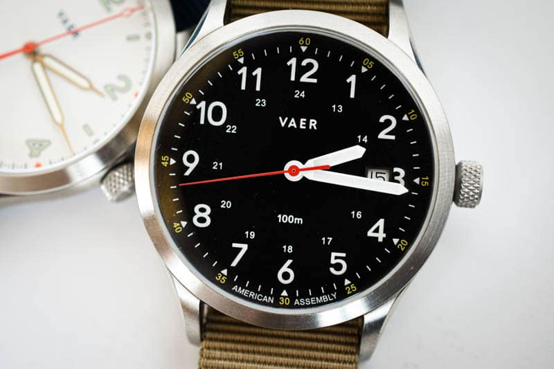 vaer heritage field watch c5 with s5 watch in background