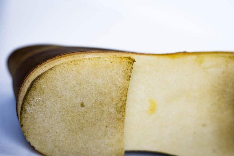 Detail shot of clarks desert boot crepe sole
