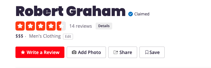 Robert Graham Yelp Review