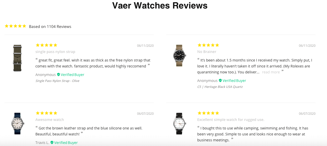 Vaer Watches Reviews