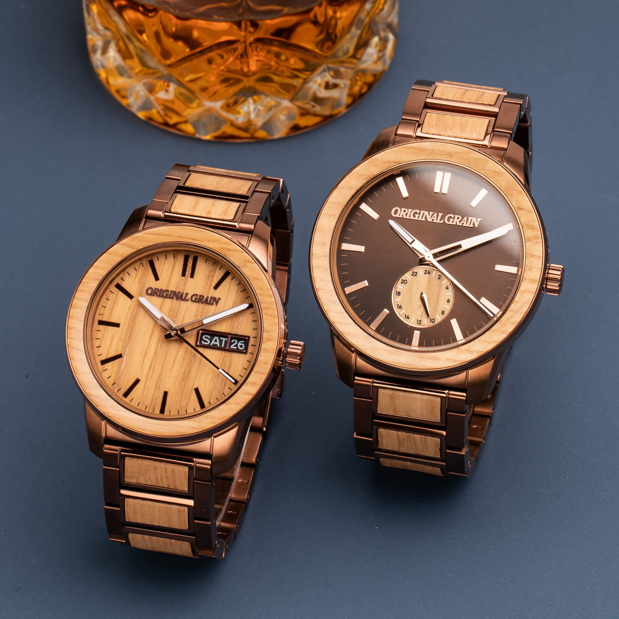 whiskey barrel original grain watches