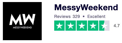 MessyWeekend Truspilot Review