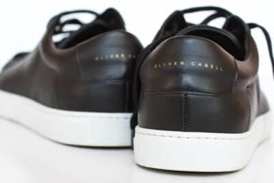 Oliver cabell black leather low 1 minimalist sneakers from the back 1