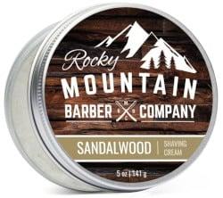 Rocky Mountain Barber Company Sandalwood Shaving Cream