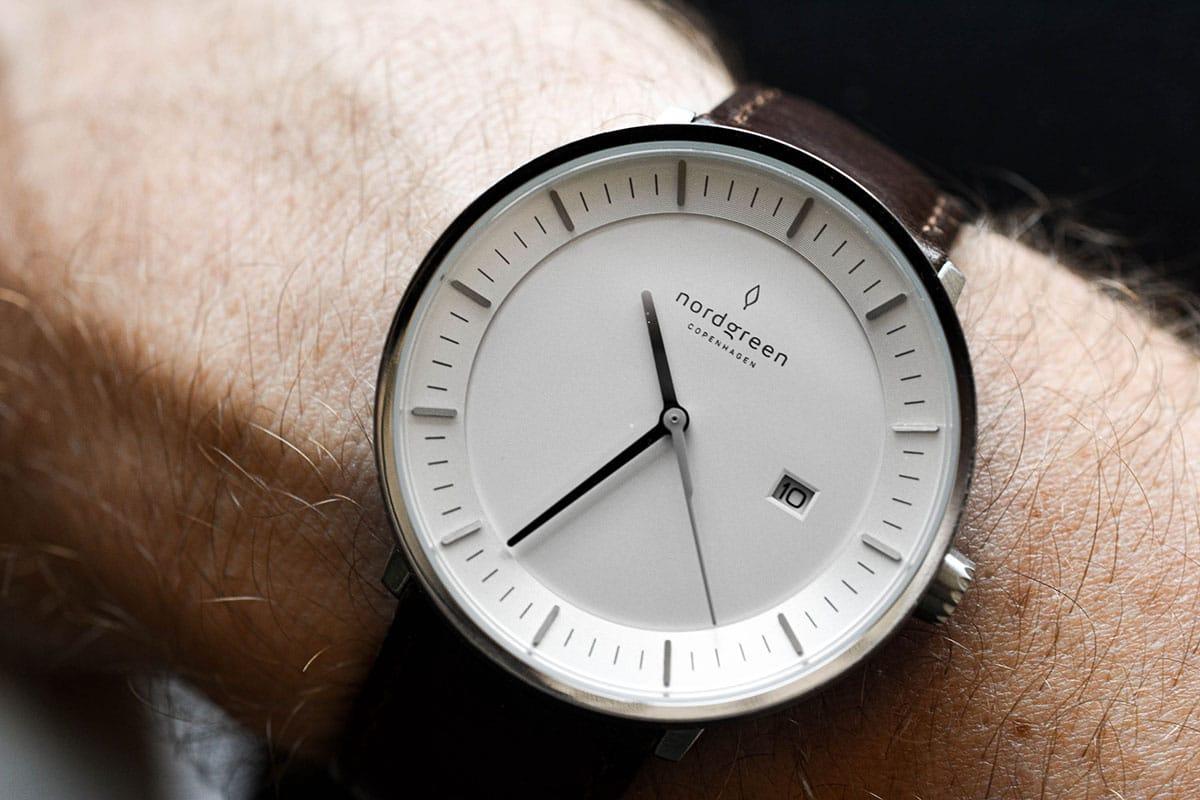 macro photo nordgreen philosopher on model wrist