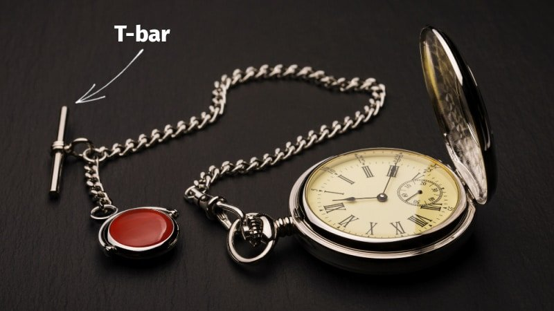 T bar pocket watch diagram