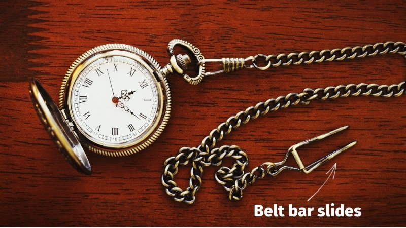 Belt bar slides pocket watch diagram