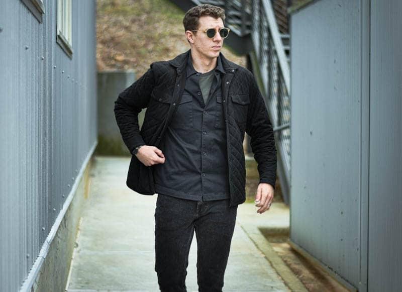 Model walking toward camera wearing new depp sunglasses