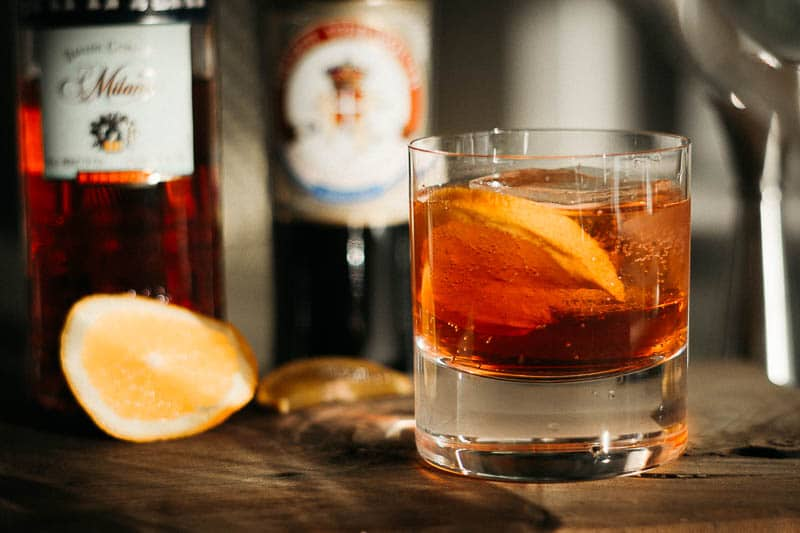 Negroni sbagliatto made in glass