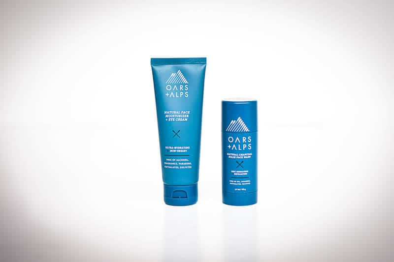 Oars Alps face wash and moisturizer for men