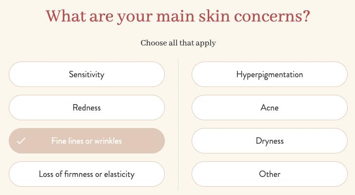 Proven skincare genome quiz screenshot