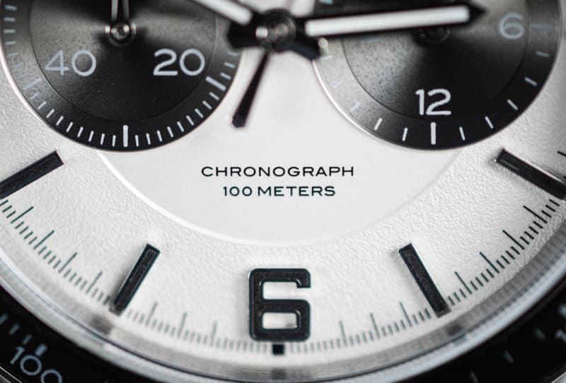 Vincero Apex chronograph detail