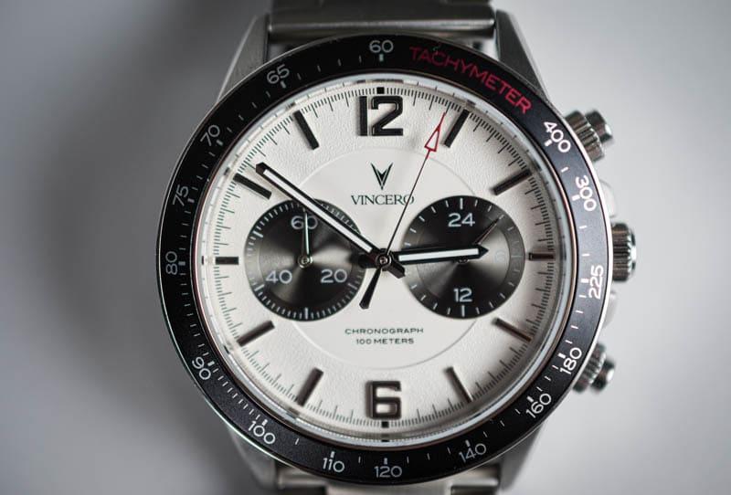 Vincero Apex dial closeup