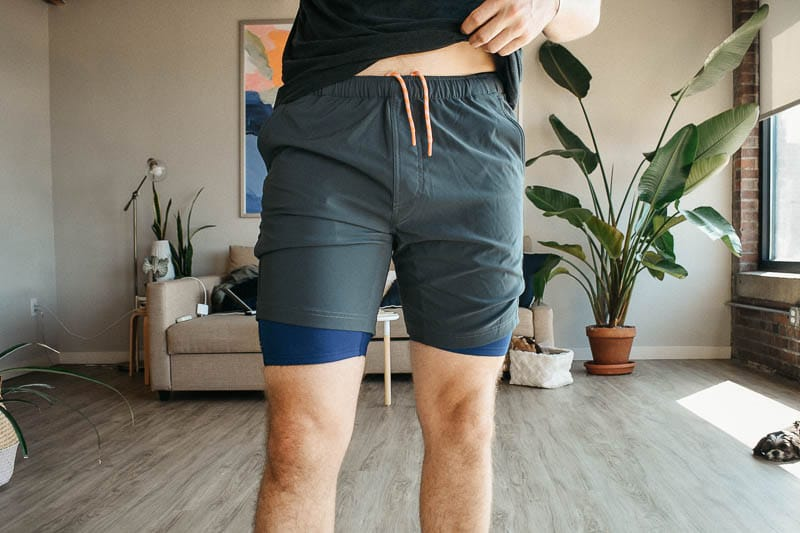 All Citizens compression and workout shorts paired