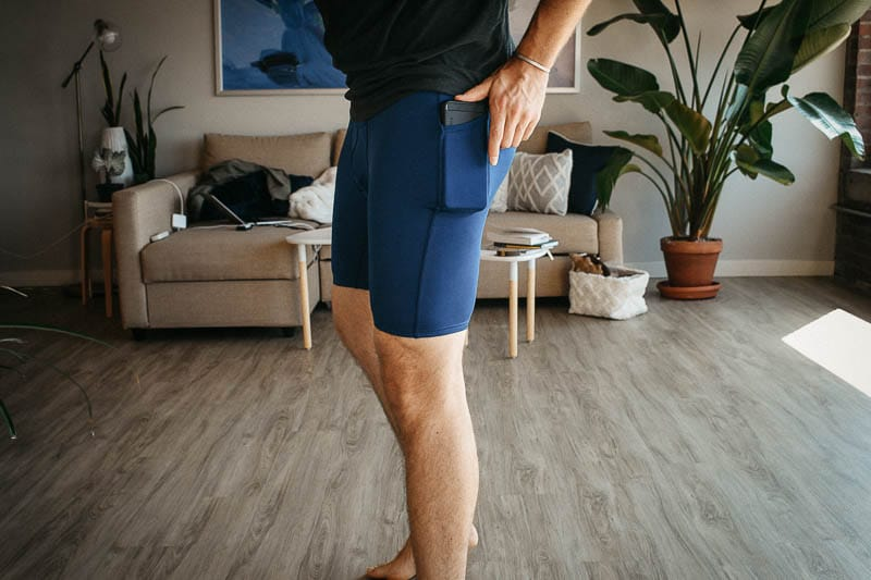 All Citizens phone pocket in compression shorts