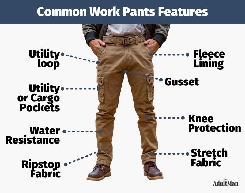 Common Work Pants Features