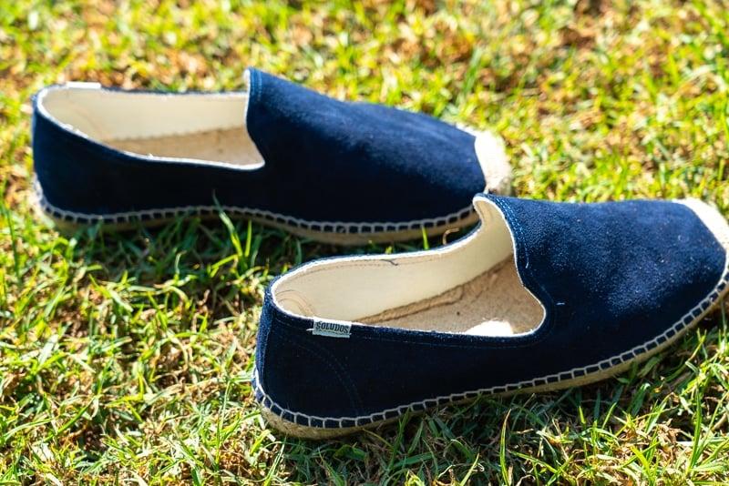 Espadrilles in grass