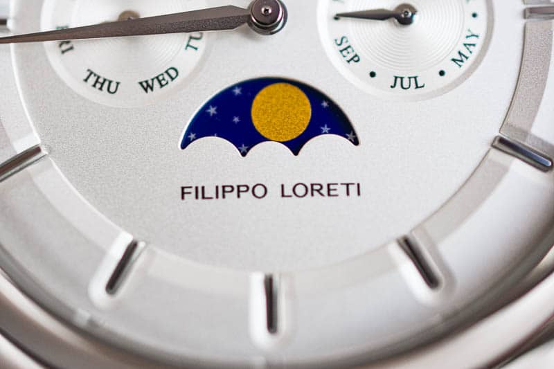 Filippo Loreti Venice ultra closeup moonphase complication
