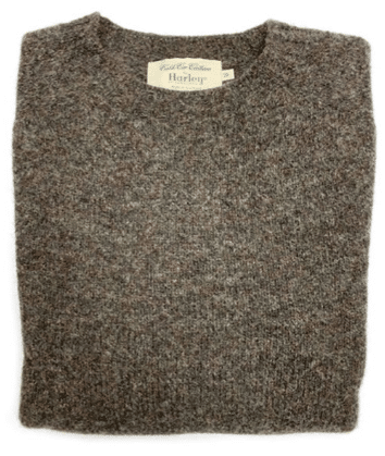 Harley of Scotland Shetland Crewneck Sweater | Cable Car Clothiers