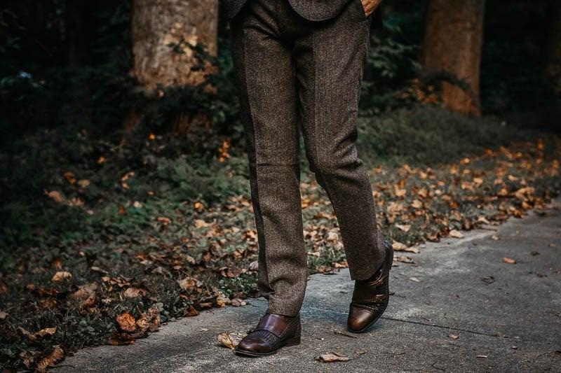 JCrew Ludlow suit pants english wool brown