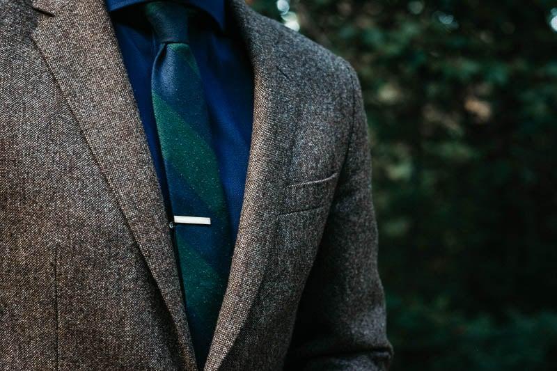 closeup of lapel on JCrew Ludlow suit jacket