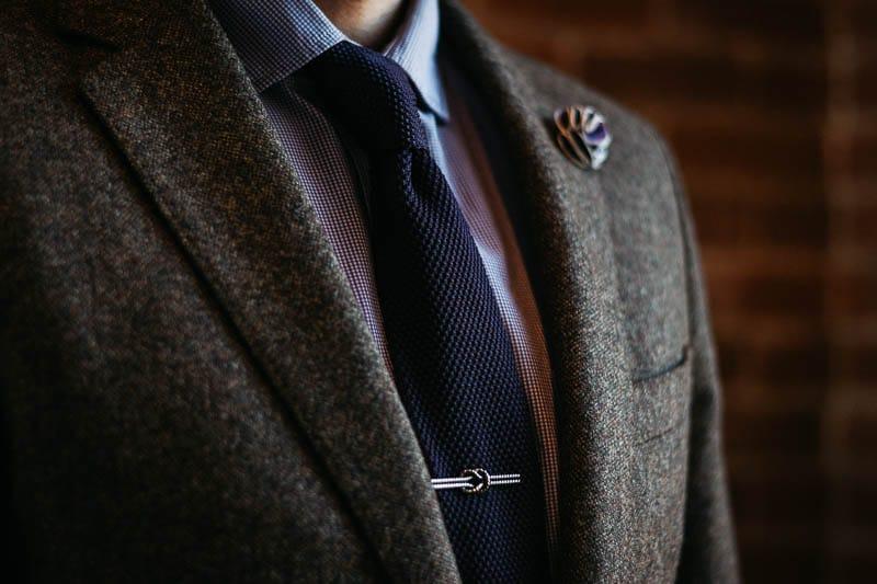 Gentlemans Box Classic closeup tie
