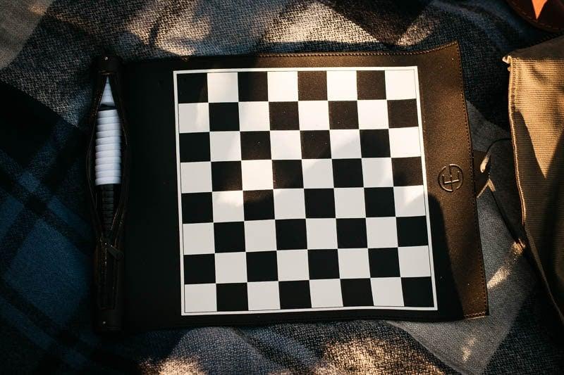Gentlemans Box Premium roll up chess board unfurled