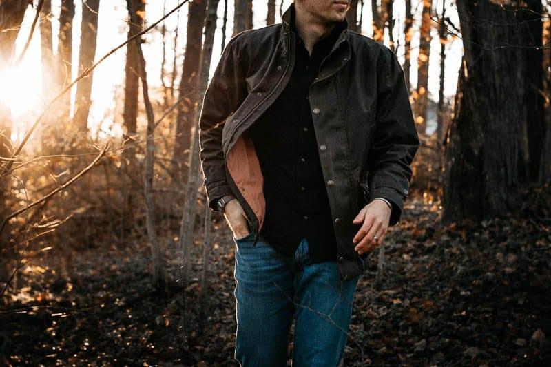 Tom-Beckbe-tensaw jacket on model
