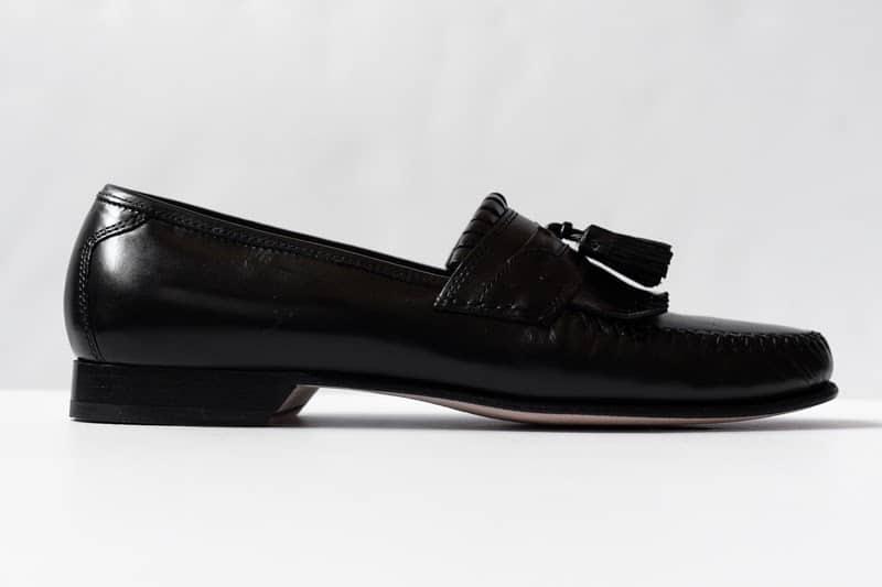 Breland Kiltie Tassel loafers profile view