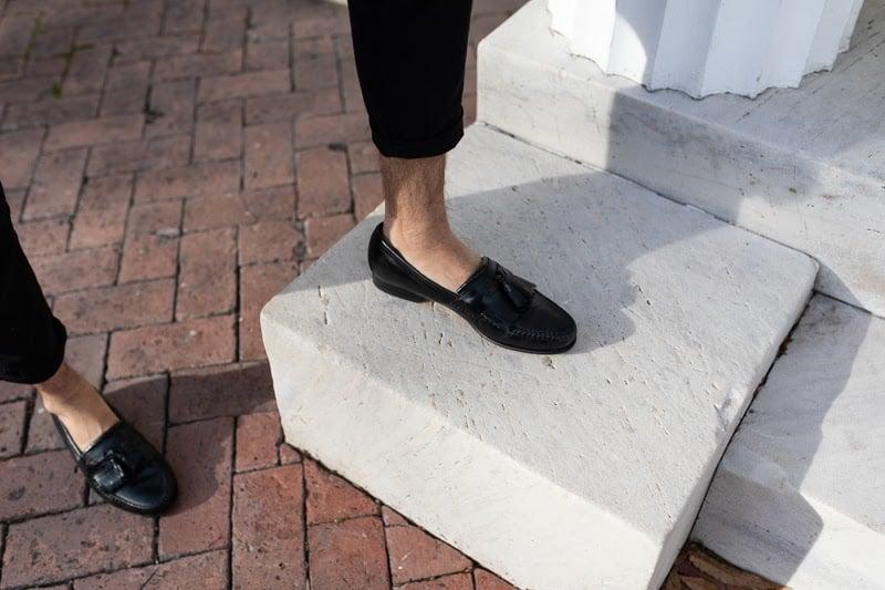 Johnston and Murphy Breland Kiltie Tassel loafer detail