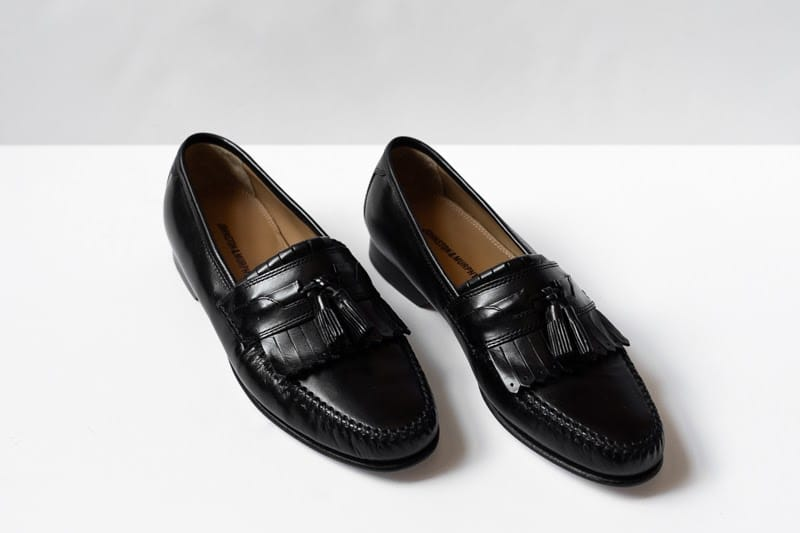 Johnston and Murphy Breland Kiltie Tassel loafers at angle