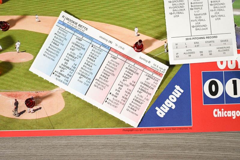 Strat O Matic fielding card