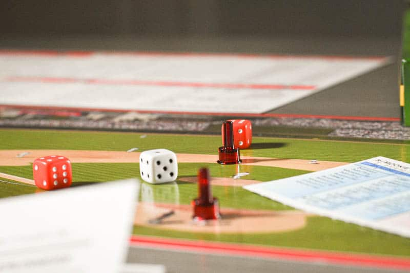 Strat O Matic pieces and dice
