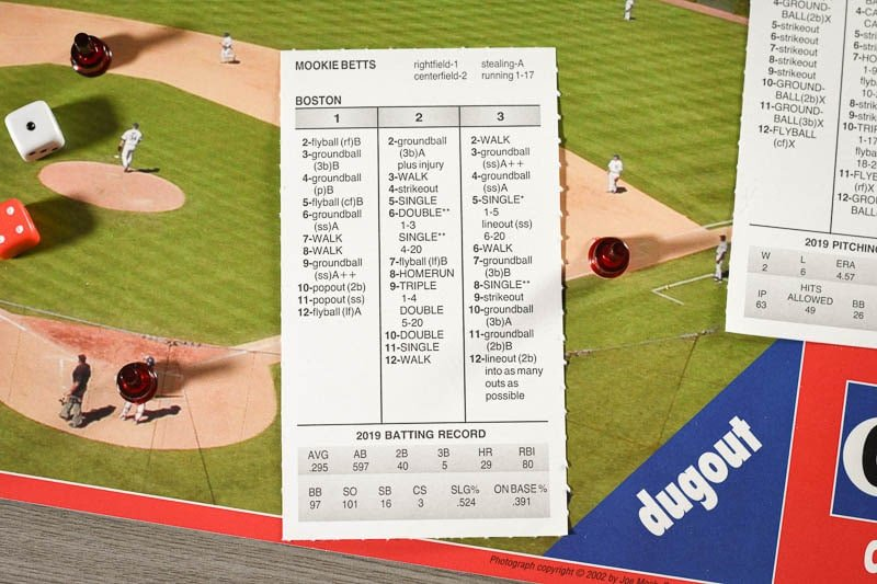 Strat O Matic player card