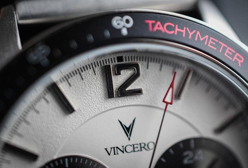 Vincero Apex tachymeter dial