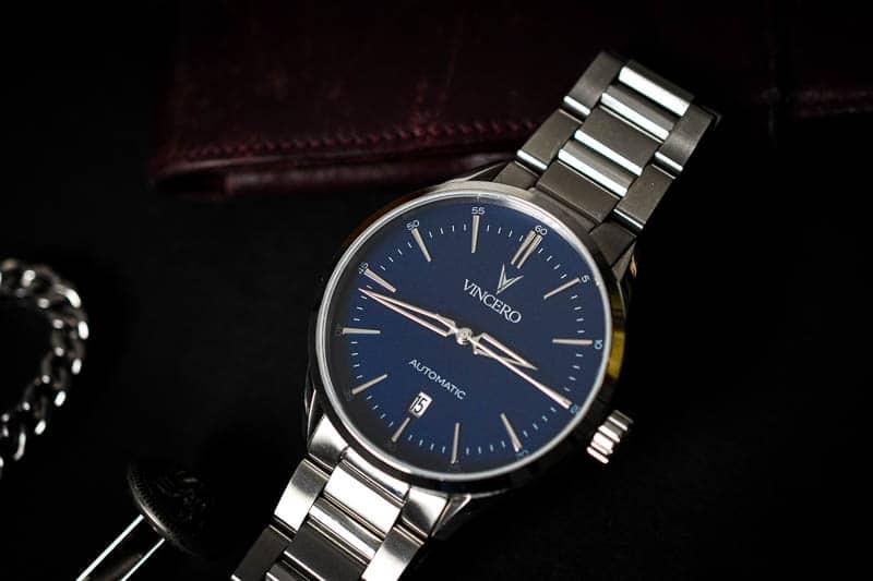 Vincero Icon blue dial steel bracelet