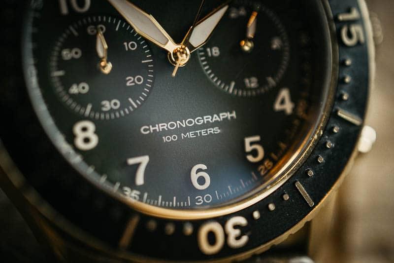 Vincero Outrider chronograph detail