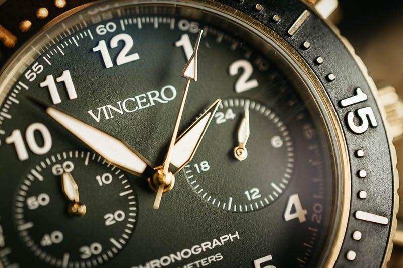 Vincero Outrider dial detail closeup
