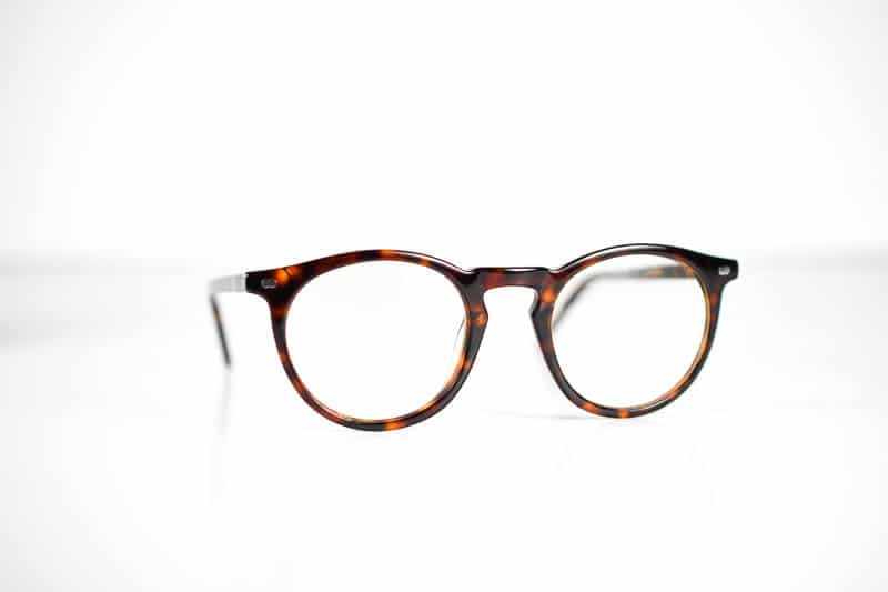 Christopher Cloos blue light glasses on white background