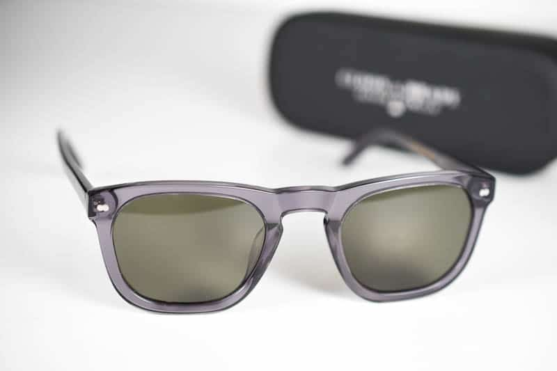 Christopher Cloos x brady sunglasses with case in background