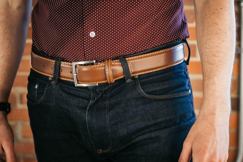 Roger Ximenez belt closeup on model