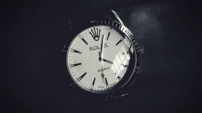 Watches That Look Like Rolexes Rolex Quartz Watch on Wrist Black Background