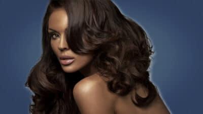 Hot Women Image of Attractive Brunette with Dark Complexion