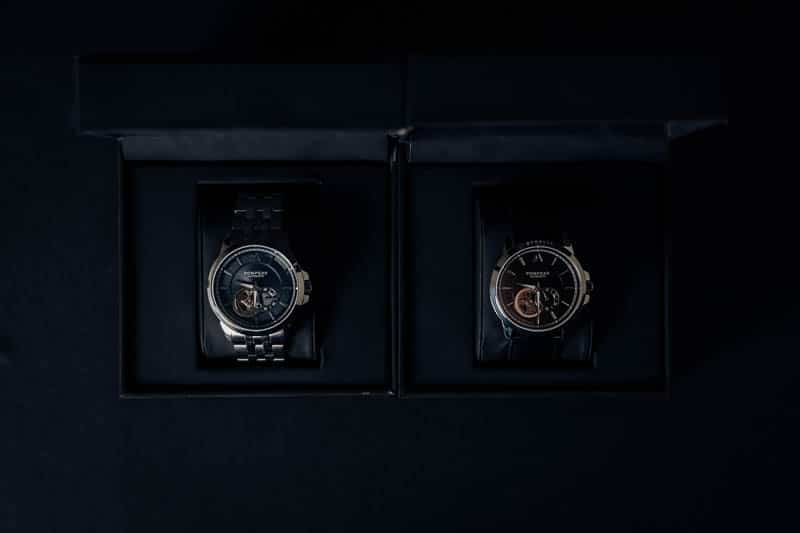 Pompeak watches gentlemens collection in navy and black