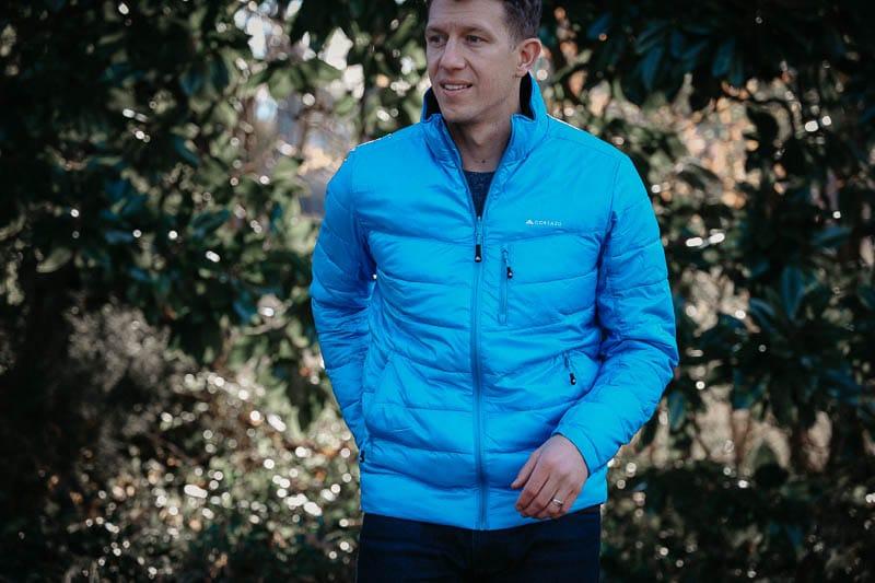 lightweight Cortazu jacket in blue