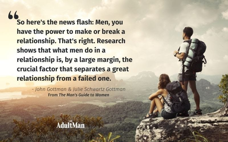 quote by john gottman from a mans guide to women